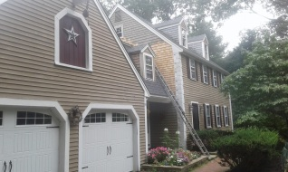 painting shingling before
